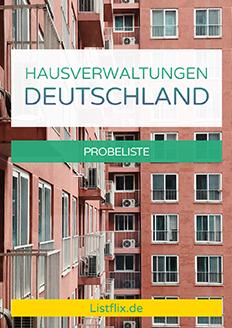 Hausverwaltungen Deutschland Probeliste