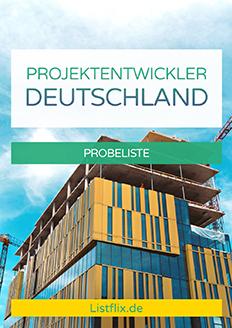 Projektentwickler Deutschland Probeliste