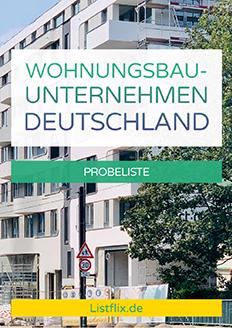 Wohnungsbauunternehmen Deutschland Probeliste
