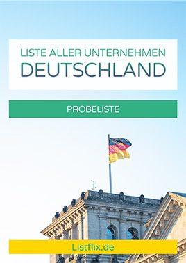 Liste aller Unternehmen in Deutschland
